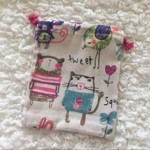 💕8 x 6.5 inches💕 Cute Drawstring Bag